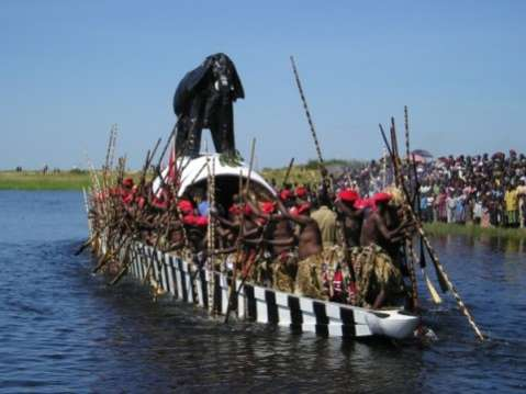 Kuomboka traditional ceremony of the Lozi people in western province