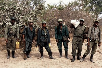 Anti-Poaching unit from ZAWA (Zambian Wildlife Authority)