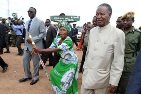 Dr. Chitalu Chilufya with Sata