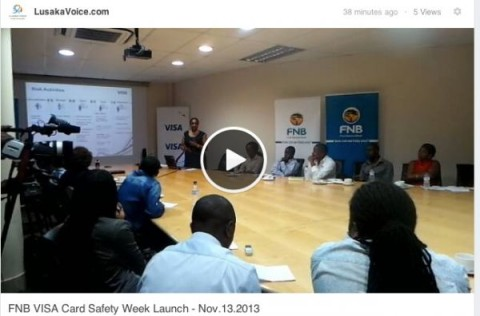 FNB VISA Card Safety Week Launch - Nov.13.2013