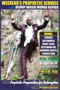 prophetic Sevice 202x300 Bishop Haggai Mumba in Pictures Lusakavoice.com