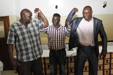 FRANCIS 'Galagata' Zulu and Joseph Chingangu (Right)