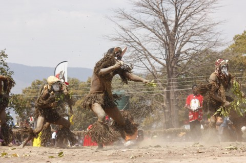 ACTION during the Kulamba traditional ceremony of the Chewa people of Eastern Province.