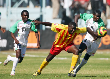 Jonas Sakuwaha is a Zambian international footballer who plays professionally as a winger for Congolese club TP Mazembe in the Linafoot.