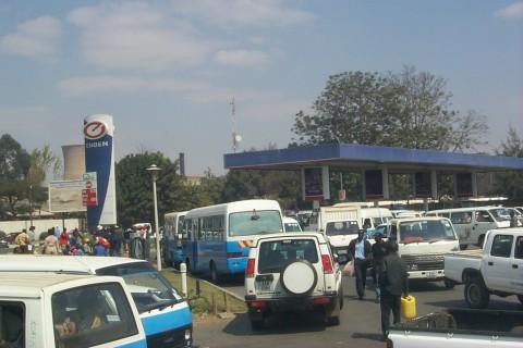 fuel shortage queue
