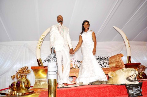 wedding ceremony of  Bona Mugabe and her husband Simba at their residence in Harare, Zimbabwe on March 1,2014 -Picture by THOMAS NSAMA