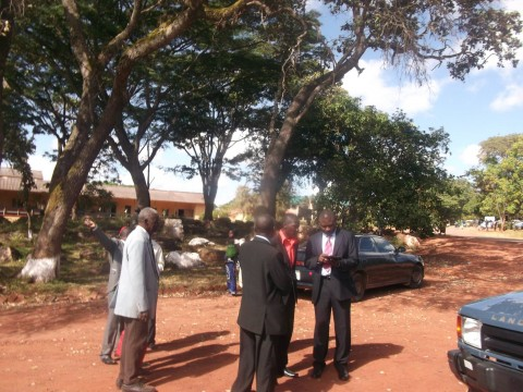 Alliance for Better Zambia-ABZ President Frank Bwalya in Parking lot