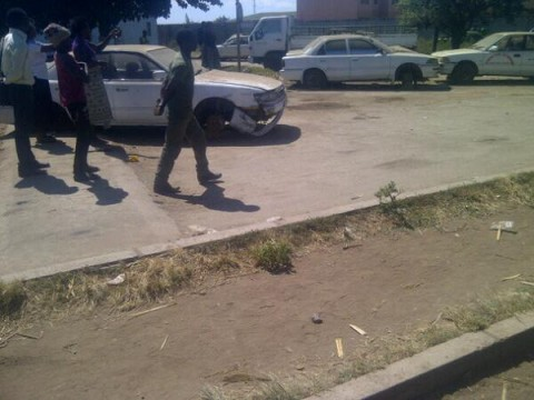 Smashed cars from the #chibolya Raid.#Zambia - Rogers Mumba