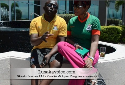 Nkweto Tembwe FAZ - Zambia Vs Japan Pre-game commentry