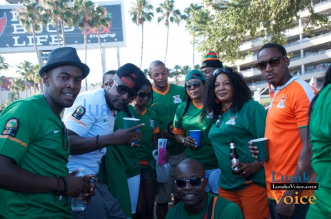 Zambia Vs Japan - Chipolopolo FANS outside stadium Party