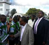 Kabimba Shaking hands with PF officials before I left Kasama this afternoon