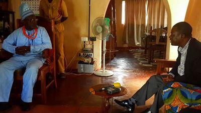 Mr Kabimba with Chief Mumbi of the Nsenga people in Petauke