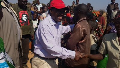 Mr Kabimba with mangango residents