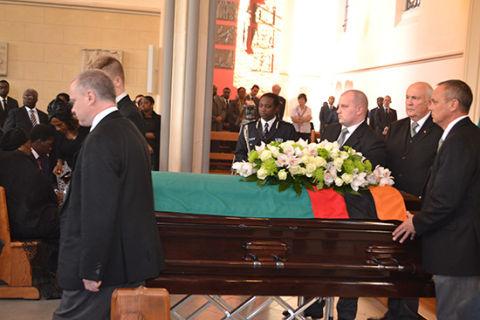 Sata-Casket-Funeral held for Sata in UK