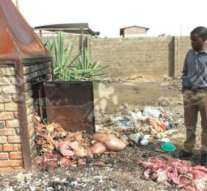 over 70 kilogramms of suspected condemned meat which was being sold at an undesignated place.