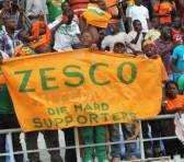 ZESCO Football Supporters celebrating