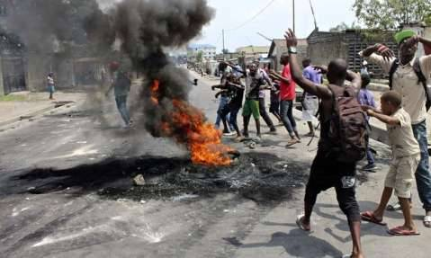 Kinshasa rallies protest against Joseph Kabila's attempts to stay in power by amending DR Congo's constitution. Photograph: Reuters