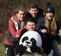 Durham University students who are travelling to Zambia, rear left to right, Joanne Bennett, James Gardner, Lydia Gibson, and front Lawrence Levy