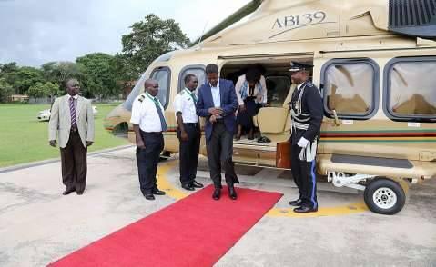 President Edgar Chagwa Lungu returns from AU