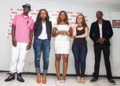 The new Fly5 ambassadors include Chef 187, Cleo Ice Queen, Kanji, Kiki and James Sakala who were officially unveiled last Friday at a cocktail event in Lusaka.