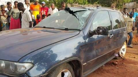 Brian Hapunda survives road accident