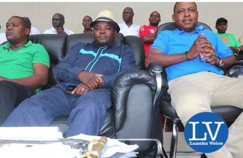 Deputy Minister of Sport  Ronald Chitotela, Kalusha Bwalya - Photo Credit Jean Mandela - Lusakavoice.com