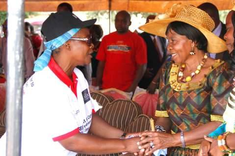 First Lady at Heroes Stadium in Lusaka,Zambia on Sunday,March 8,2015