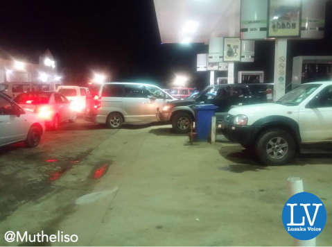 A filling station in Kitwe runs out of fuel