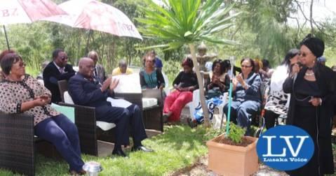 Mama Chibesa Kankasa addressing the gathering     - Photo Credit Jean Mandela - Lusakavoice.com
