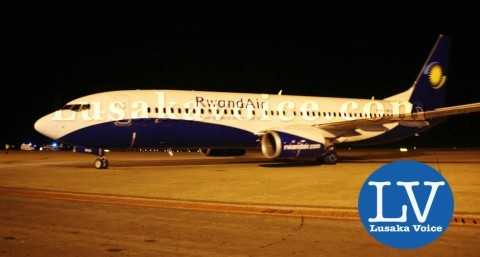 Rwandair made its maiden flight in Lusaka: Zambia when it landed at Kenneth Kaunda International Airport on 27th March 2015    - Photo Credit Jean Mandela - Lusakavoice.com