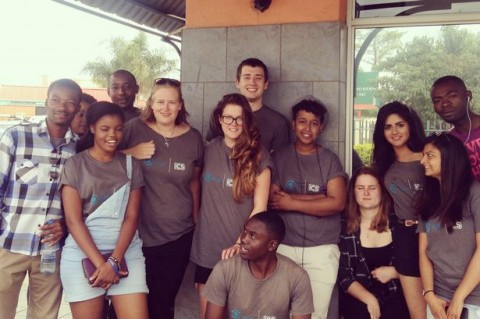 Sonia and the rest of 'Team Zambia'
