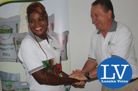 Esther Phiri and Peter Cottan prior to a press briefing at Lusaka Grand Hotel. - Photo Credit Jean Mandela - Lusakavoice.com