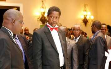 HIS EXCELLENCY MR. EDGAR CHAGWA LUNGU PRESIDENT OF THE REPUBLIC OF ZAMBIA ON THE OCCASION OF THE GALA DINNER AT THE LAW ASSOCIATION OF ZAMBIA'S 2015 ANNUAL GENERAL MEETING HELD AT THE ZAMBEZI SUN HOTEL LIVINGSTONE..,