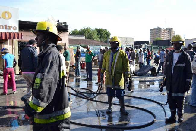 Fire destroys shops in Lusaka, Mayor defends fire brigade failure