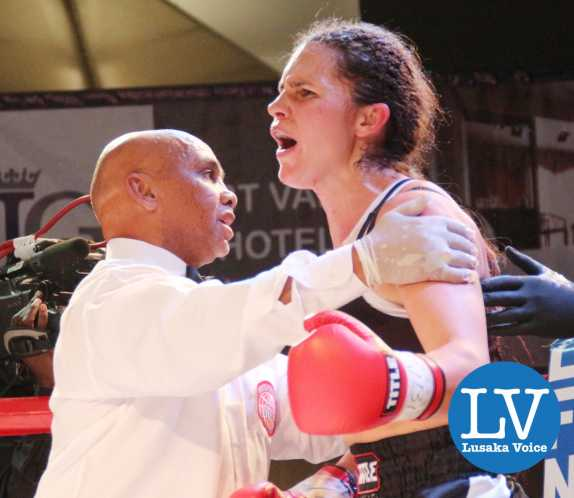 Sandra Almeida with International referee Eddie Marshall (Cape Town based)