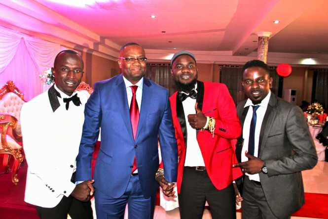 Emmanuel Mwamba with groom MackyII, Pilato , Petersen