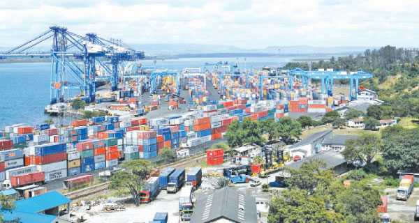 Mombasa port in Kenya