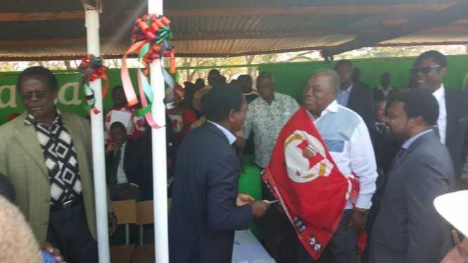 HH greets RB at the Kulamba Traditional Ceremony at Paramount Chief Kalonga Gawa Undi of the Chewa speaking people of Eastern Zambia, Malawi and Mozambique