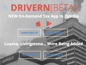 DRIVERN On-Demand Tax App In Zambia
