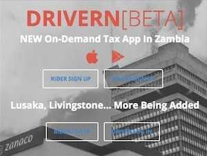 DRIVERN On-Demand Tax App In Zambia