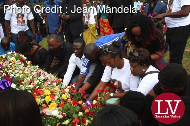 Late Faith Kandaba burial  at Lusaka Memorial Par