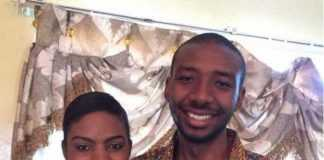 Akakanda Lubinda Liteebele (right) murdered by his wife, left