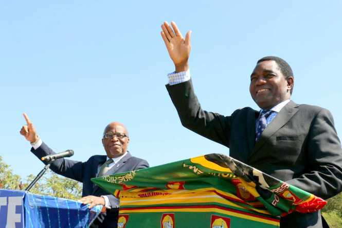 Hakainde Hichilema & Nevers mumba