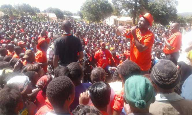 UPND Thunderous welcome in Isoka
