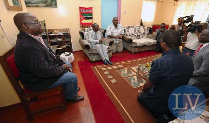 President Edgar Lungu Greets Mpezeni at his Palance