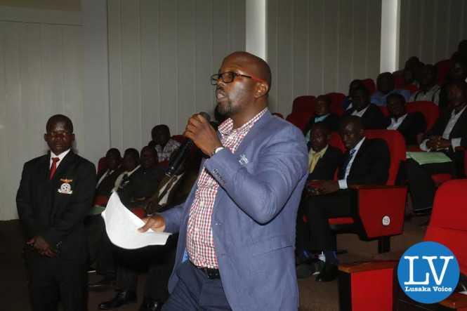 Circle Bulls proprietor Mofya Chisala stressing a point.