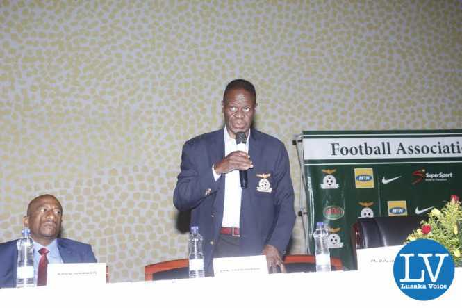 FAZ Treasurer Rix Mweemba addressing the delegates.