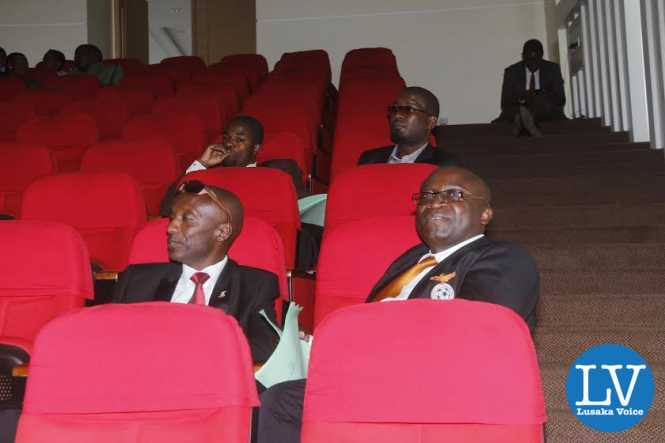 Former FAZ VEEP Bournie Mwamelo following the proceedings.