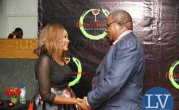 Jessie and Ministry of Tourism Director Prince Lamba - lusakavoice.com